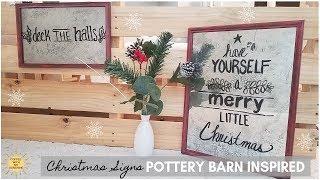 POTTERY BARN INSPIRED CHRISTMAS SIGNS   MERCURY GLASS   MIRROR ART   INDUSTRIAL FARMHOUSE DIY
