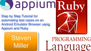 Appium Ruby Android Emulator Browser - Simple Step by Step Introduction for mobile web automation