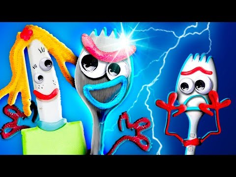 🤖 ¡Forky está CELOSO del NUEVO FORKY METÁLICO! │ Toy Story 4!