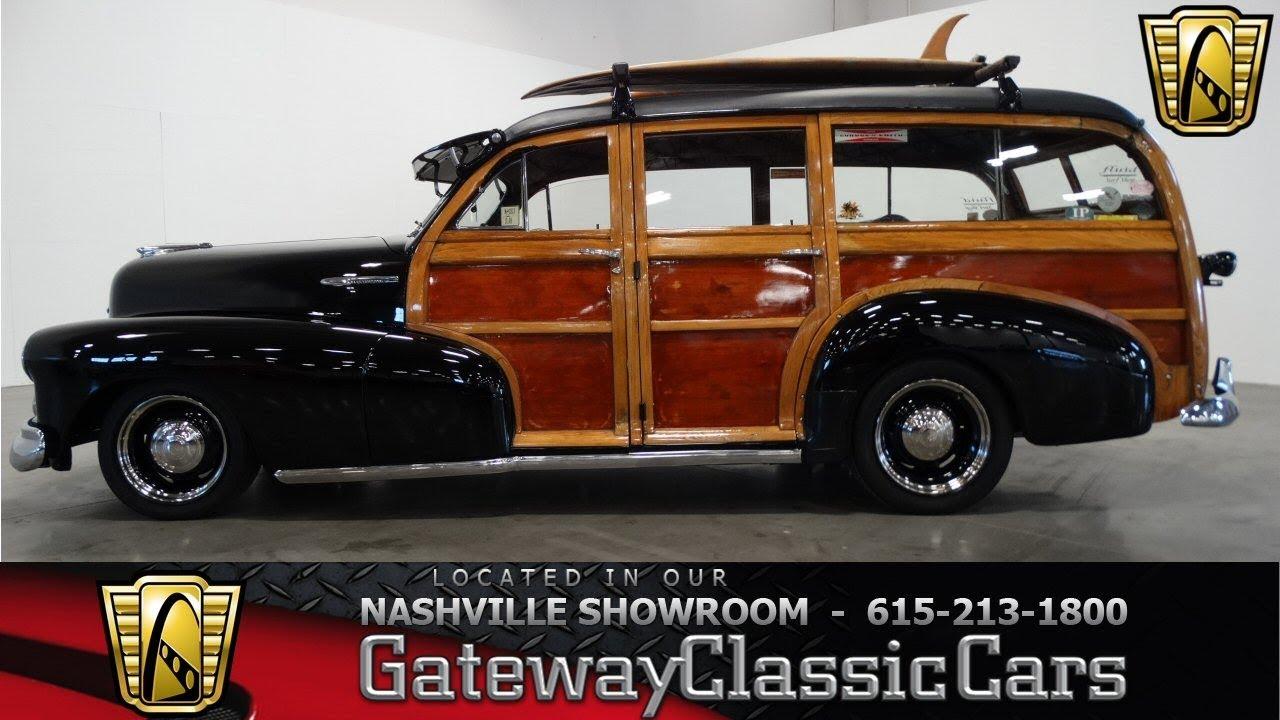 1947 Chevrolet Fleetmaster Woodie Wagon Gateway Classic Cars 1955 Ford F100 Truck Moon Caps Nashville592