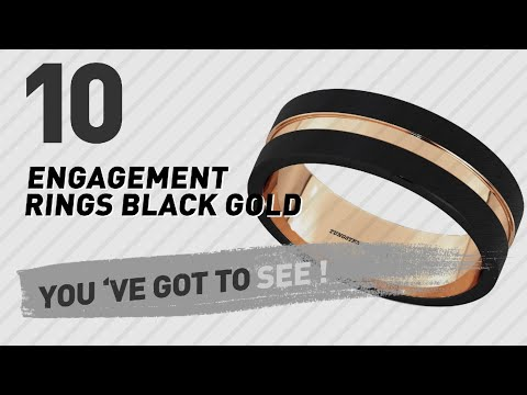 Engagement Rings Black Gold Top 10 Collection // UK New & Popular 2017