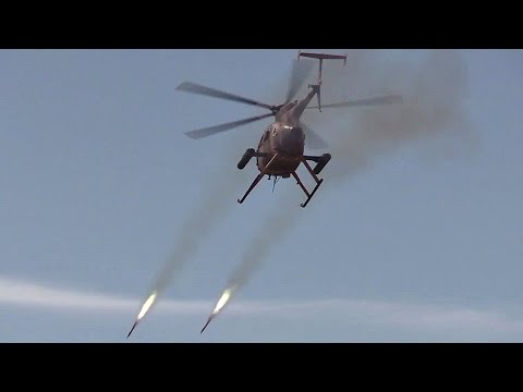 MD 530F Cayuse Warrior Attack Helicopter In Action