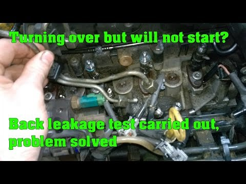 Cranks but won't start on a common rail diesel engine - Injector back leakage test
