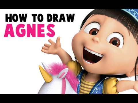 How to Draw Agnes The Adorable Little Girl From Despicable Me