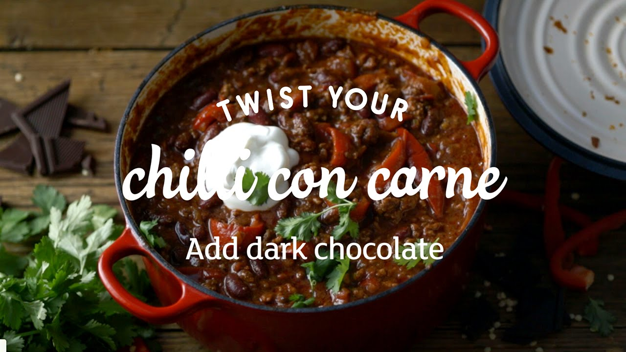 Chilli con carne with chocolate little twists youtube for Adding chocolate to chilli con carne