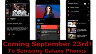 Samsung's Free TV Plus App Coming To Galaxy Phones!