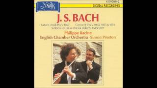 J S BACH Philippe Racine English Chamber Orchestra Simon Preston