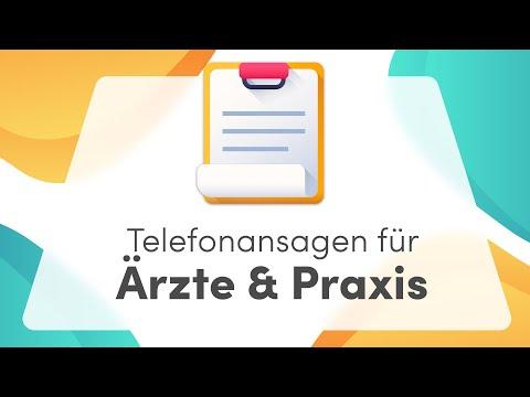 Anrufbeantworter Ansagen für die Arztpraxis - telefonansagen.de