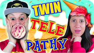 TWIN TELEPATHY Ice Cream Sundae CHALLENGE
