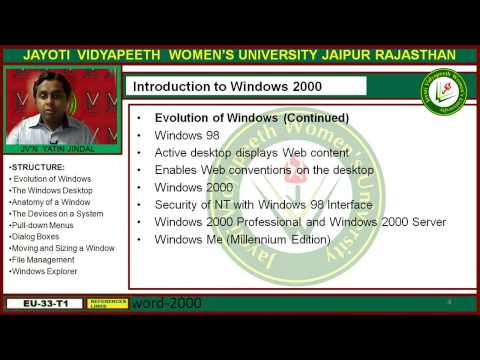 Evolution of Windows Lecture Part-2