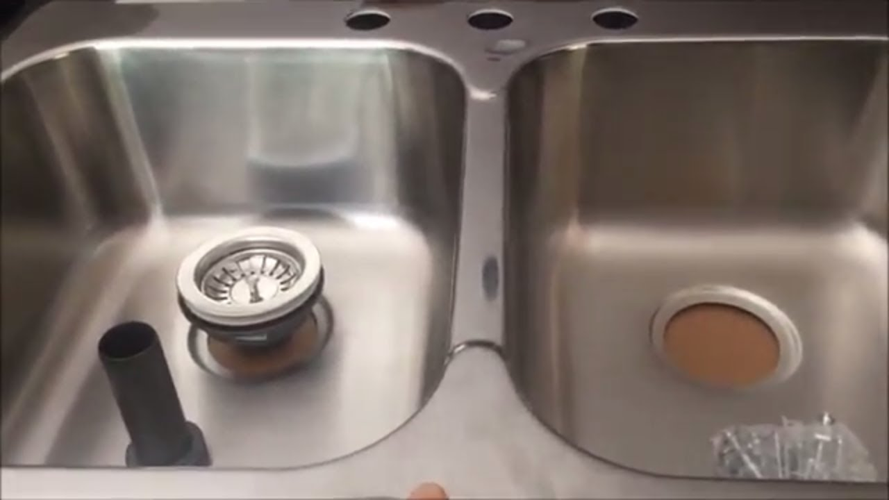 Replace/Install a kitchen sink - YouTube