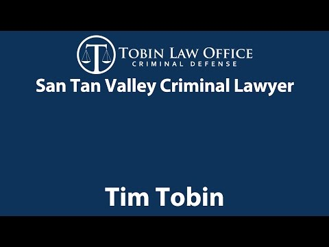 San Tan Valley Criminal Lawyer| Tobin Law Office