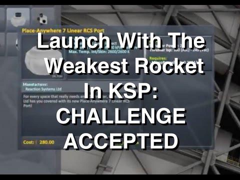 KSP Challenge - Launching Rocket Using Weakest Engines