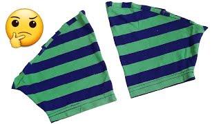 T-Shirt की Sleeve का एसा Idea एक बार जरुर देखें । by Simple cutting