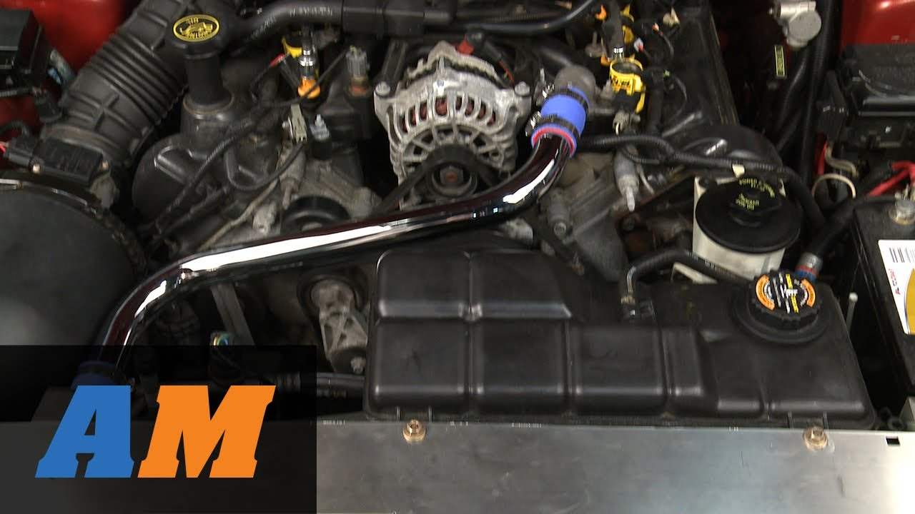 mustang chrome radiator hose kit 94 95 gt cobra and 96 00 gt youtube [ 1280 x 720 Pixel ]