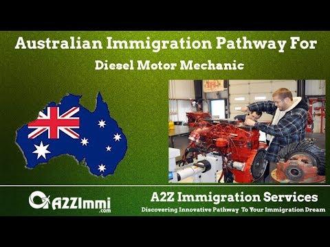 Australia Immigration Pathway for Diesel Motor Mechanic (ANZSCO Code: 321212)