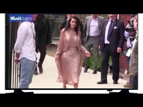 Daily news Kim Kardashian and Kanye West attend Vogue event in London