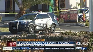 Suspect shoots at security officer