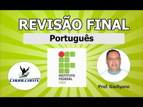 REVISÃO DE PORTUGUÊS PARA O IFPI 2016
