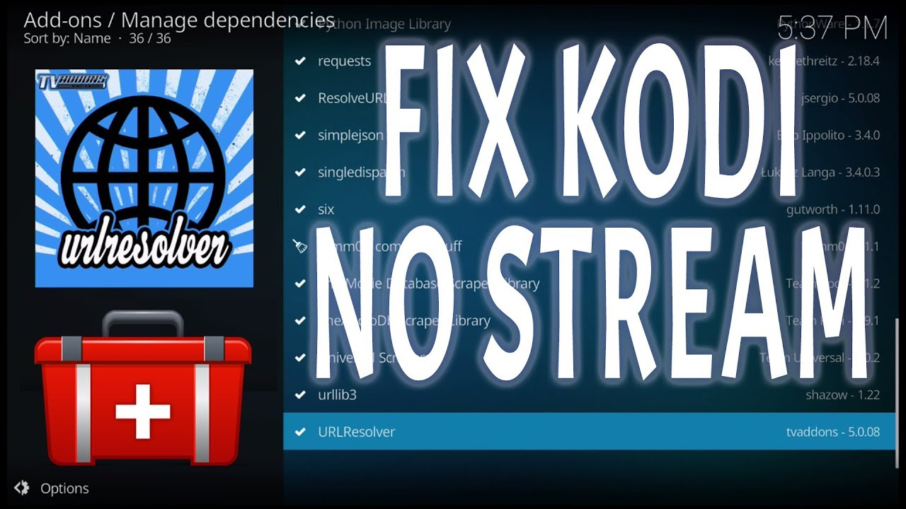 KODI BUFFERING FIX (STOP NO STREAM AVAILABLE ERROR) UPDATE URL RESOLVER  FIRESTICK