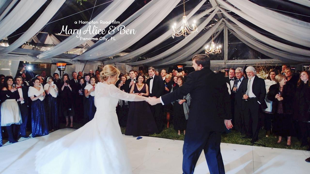 elegant backyard wedding reception in panama city fl mary
