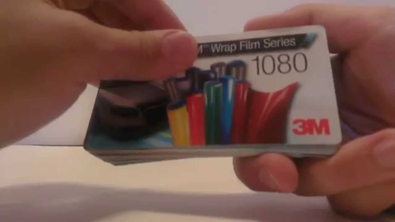 3M Wrap Film series 1080 sample review - YouTube