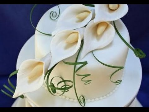 Calla Lily Wedding Cake Topper   YouTube Calla Lily Wedding Cake Topper