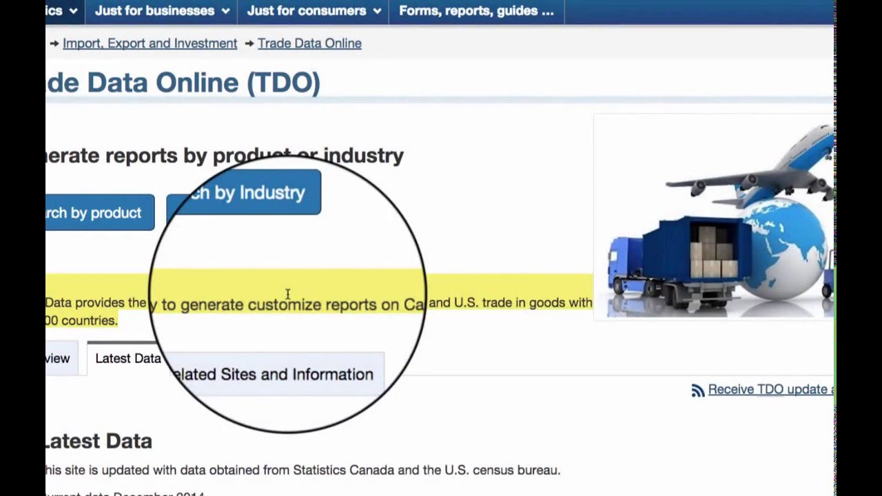 International Trade - Data from Statistics Canada - YouTube