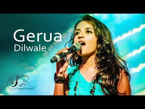 Gerua - Shah Rukh Khan | Dilwale | Sangeetha Rajeev (Female Unplugged Cover)