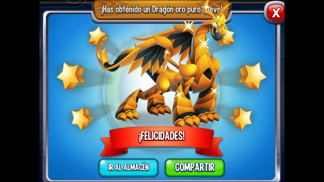 Isla Arcoiris Nivel 5 Dragon City Dragon Oro Puro Rainbow Pure Gold Vip Youtube