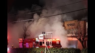 3-alarm fire at Surrey commercial strip mall