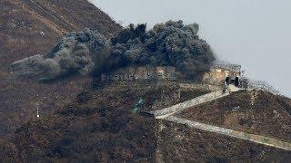 КНДР взорвала свои погранпосты в демилитаризованной зоне