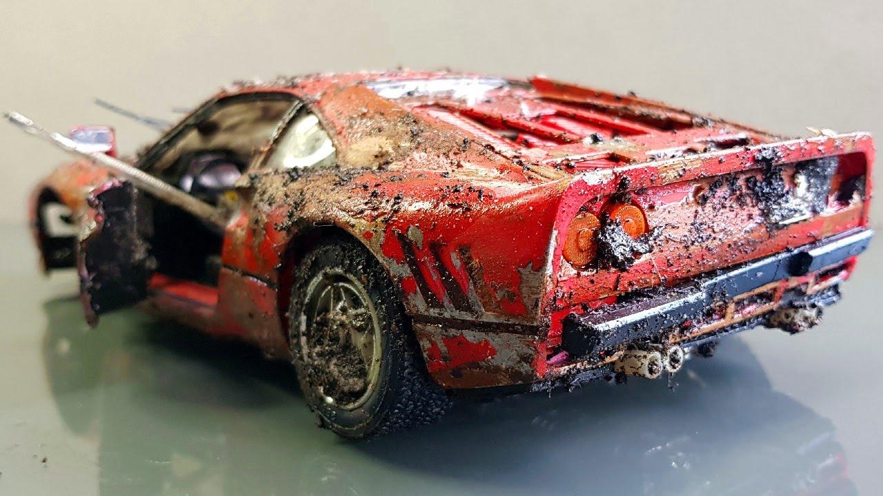 Restoration Abandoned Ferrari 288 Gto Old Super Car Repair Damaged Car By Small Restore Youtube