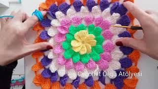 Yapraklı Bebek Battaniyesi/ Kırlent / 3D Leaf Baby Blanket