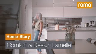 Sonnenschutz mit der Comfort & Design Lamelle CDL | Home-Story im verdrehten Haus