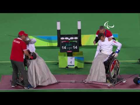 Day 6 evening | Wheelchair Fencing highlights | Rio 2016 Paralympic Games