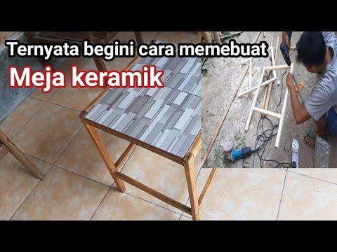 Cara Membuat Meja Keramik Minalis Youtube