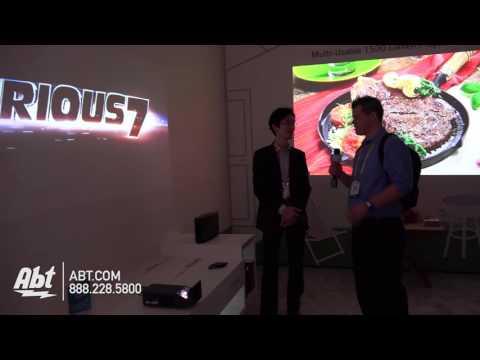 LG MiniBeam PF1000U Ultra Short Throw Projector with Smart TV - Abt CES 2016