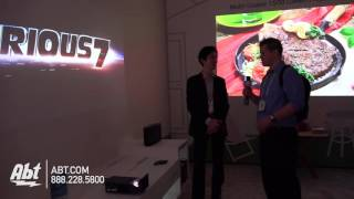 LG MiniBeam PF1000U Ultra Short Throw Projector with Smart TV - Abt CES 2016