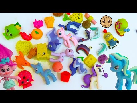 Eraser Puzzles Surprise Blind Bags, My Little Pony, Food, Shopkins  More with Poppy Trolls
