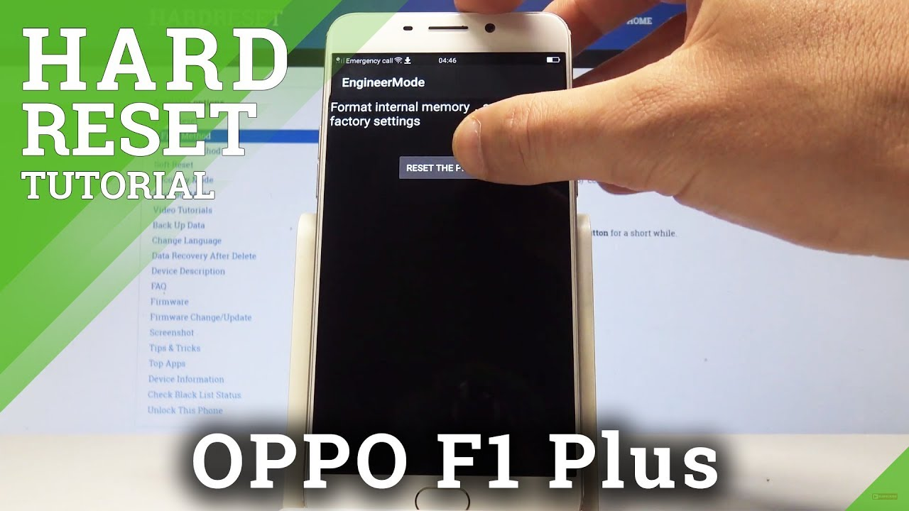How to Hard Reset OPPO F1 Plus by Secret Code / Wipe All Data / Restore  Defaults