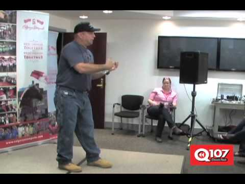 Q107 Calgary at the Garth Brooks pre-Stampede concert news conference