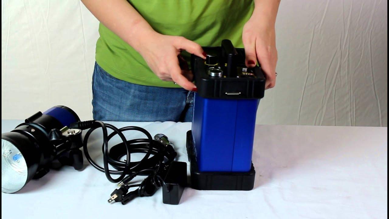 Cowboystudio.com, WP 5 400 Watt Outdoor Indoor Strobe Flash Light With  Battery Pack