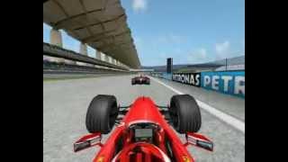 Formula 1 1999 Malaysian Grand Prix Eddie Irvine overtakes Ralf Schumacher at Sepang Circuit