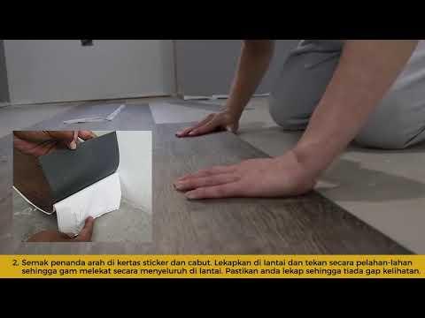 How to Install Self-Adhesive Wood Vinyl DIY-Cara Pasang Vinyl Sticker Proses DIY