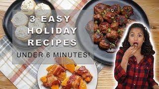 3 Easy Holiday Recipes Under 6 Minutes! | Zoe Kelly | Zoe Kelly's Kitchen