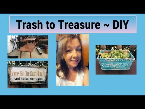 Dumpster Find Makeover ~ Trash to Treasure ~ DIY