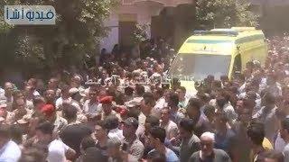 بالفيديو:جنازة شهيد المنوفية الملازم أول أحمد عادل بقرية صفط جدام4