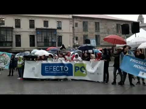 Máis de 400 escolares participan na mobilización pola emerxencia climática