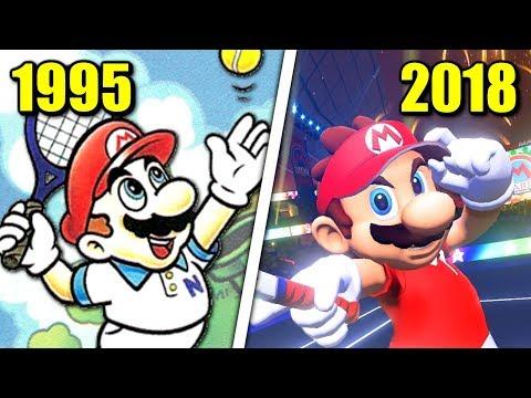 Evolution of Mario Tennis Games (1995 - 2018)